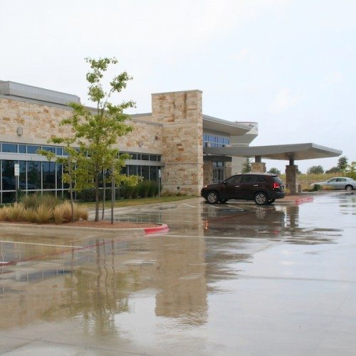 Exterior View of Building Curtain Wall from Side Angle | Cornerstone Hospital of Round Rock Commercial Project | Anchor-Ventana