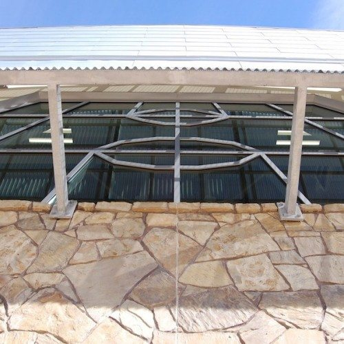 Exterior View of Custom Curtain Wall System on Building | Round Rock Sports Center | Commercial Projects | Anchor-Ventana