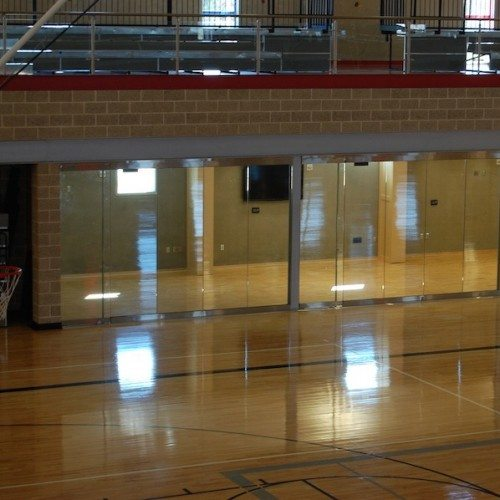 Interior View of Glass Wall System | Round Rock Sports Center | Commercial Projects | Anchor-Ventana