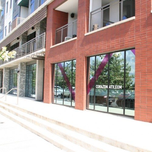 Exterior View of Lower Level Storefront | Corazon Apartments | Commercial Projects | Anchor-Ventana