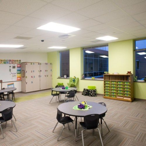 Interior View of Classroom Windows | Dearing Elementary School | Commercial Projects | Anchor-Ventana
