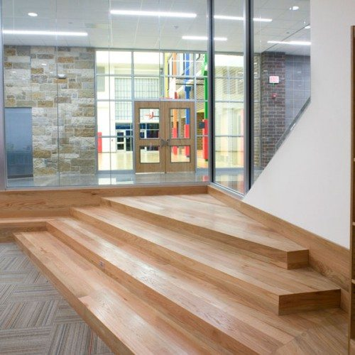 Interior View of Storefront Entrance | Dearing Elementary School | Commercial Projects | Anchor-Ventana