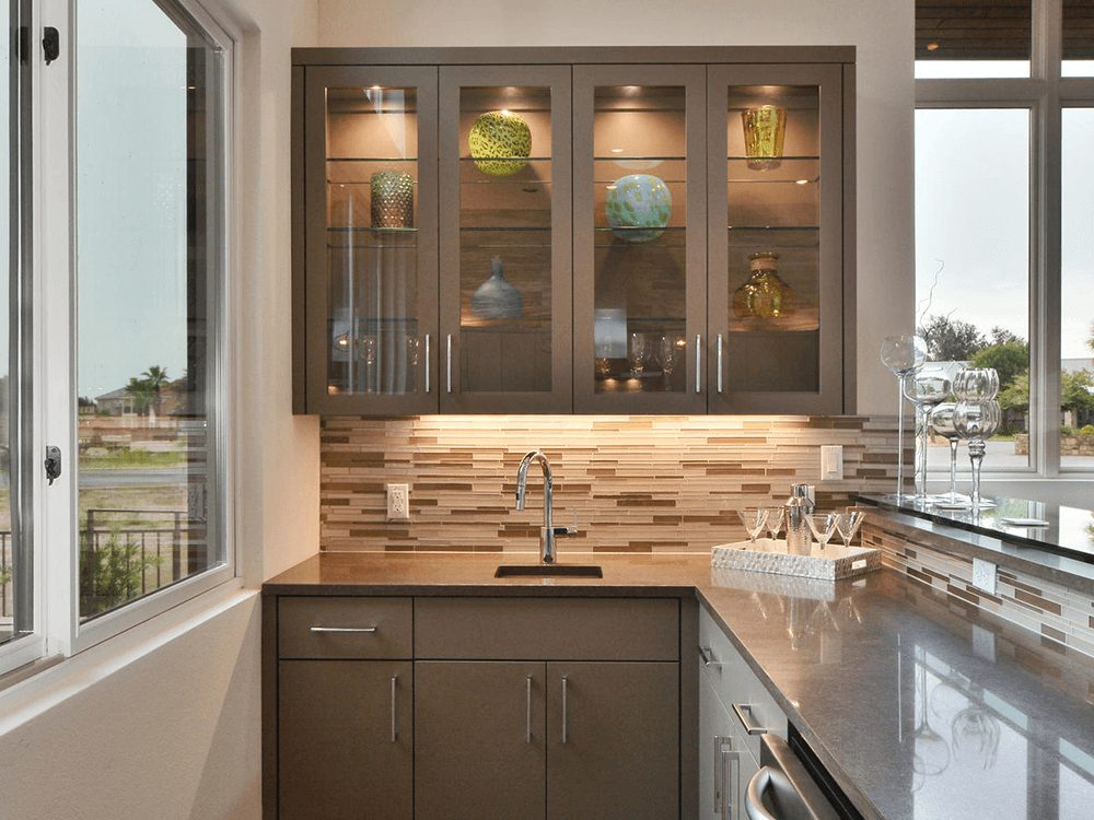kitchen glass wall cabinets glass shelves residential gallery anchor ventana glass 21732