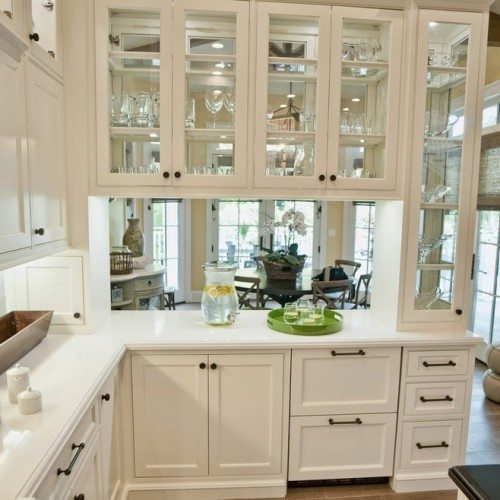 Clear Cabinet Glass & Shelves in Kitchen | Cabinet Glass & Shelves Gallery | Residential Products | Anchor-Ventana Glass