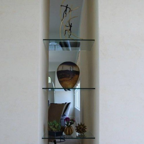 Glass Shelves in Living Room | Cabinet Glass & Shelves Gallery | Residential Products | Anchor-Ventana Glass