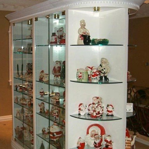 Glass Shelves Display Case | Cabinet Glass & Shelves Gallery | Residential Products | Anchor-Ventana Glass