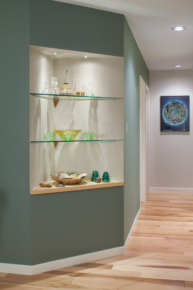 Glass Shelves In Hallway Nitch | Cabinet Glass U0026 Shelves Gallery |  Residential Products | Anchor