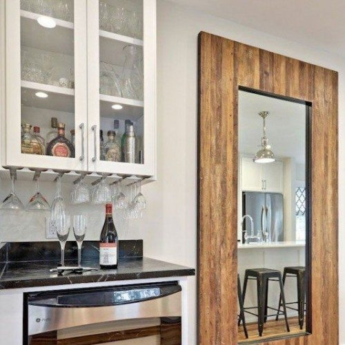 Custom Framed Mirror and Clear Glass Cabinets | Cabinet Glass & Shelves Gallery | Residential Products | Anchor-Ventana Glass