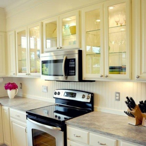 Clear Cabinet Glass And Glass Shelves In Kitchen | Cabinet Glass U0026 Shelves  Gallery | Residential