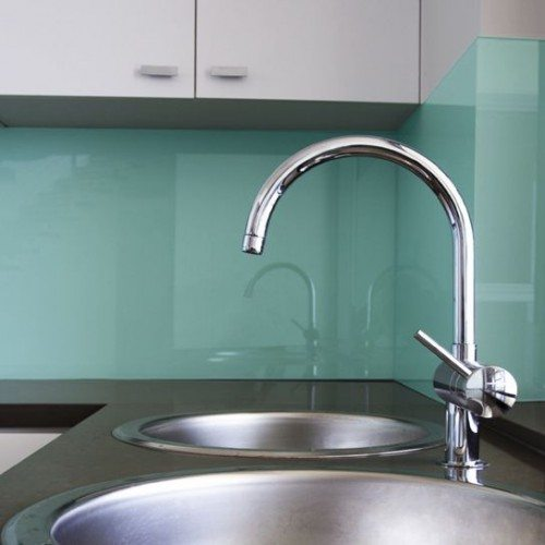 Back Painted Glass Backsplash in Kitchen | Colored Glass Gallery | Residential Products | Anchor-Ventana Glass
