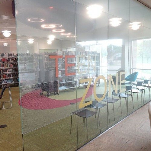 Interior Glass Digitally Printed on a Glass Wall System | Colored Glass Gallery | Residential Products | Anchor-Ventana Glass