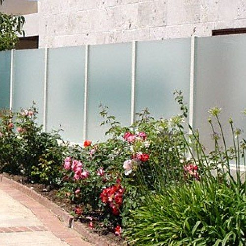 Commercial Glass Handrail System of Frosted Glass Partition | Commercial Glass Handrails | Commercial Products | Anchor-Ventana Glass