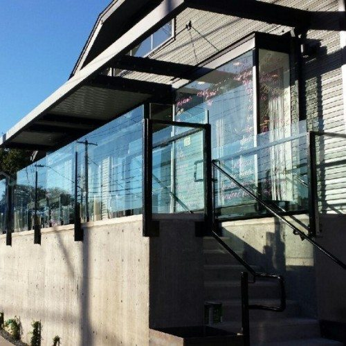 Modern Glass Partition Wall for Local Commercial Building | Commercial Glass Handrails | Commercial Products | Anchor-Ventana Glass