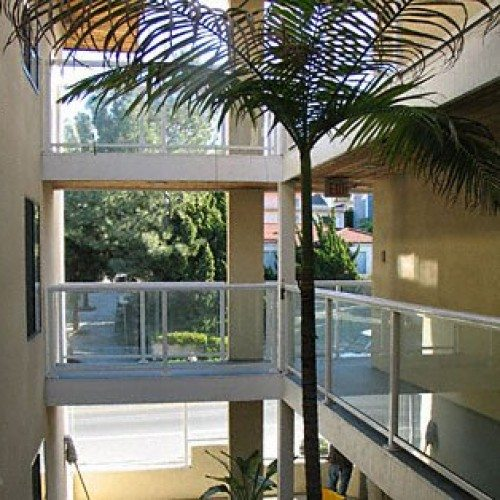 Glass Handrails on Various Levels of Condominium Building | Commercial Glass Handrails | Commercial Products | Anchor-Ventana Glass