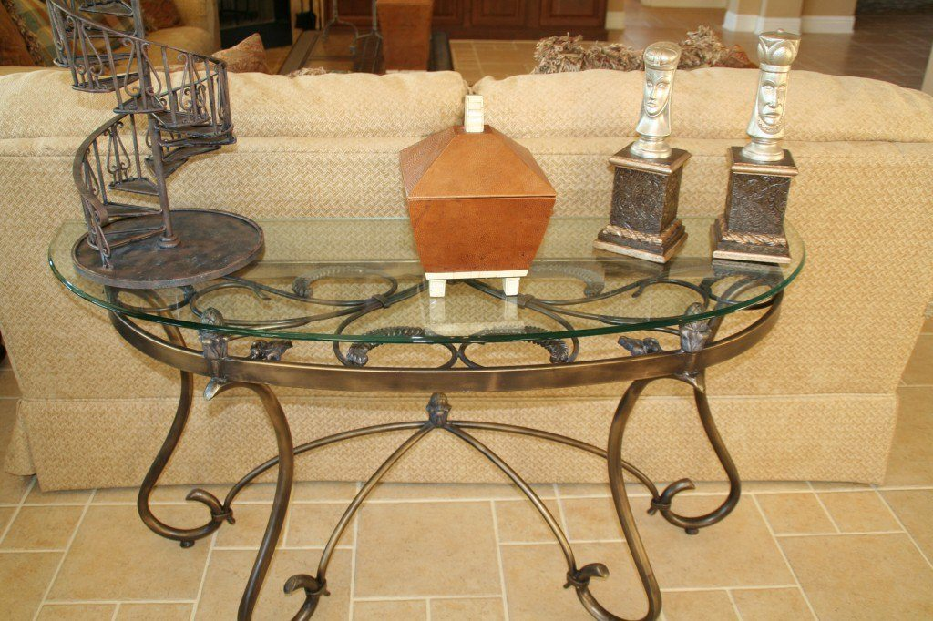 Clear Glass Top With Ogee Edge In Living Room | Glass Countertops / Table  Tops Gallery