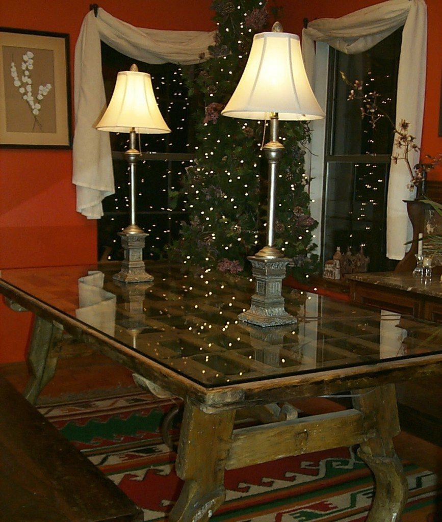 Clear Glass Top To Protect Dining Room Table Made From Re Purposed Antique  Door |