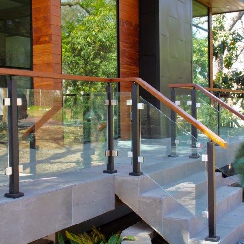 Exterior Clear Glass Handrail | Glass Handrail Systems | Residential Gallery | Anchor-Ventana Glass