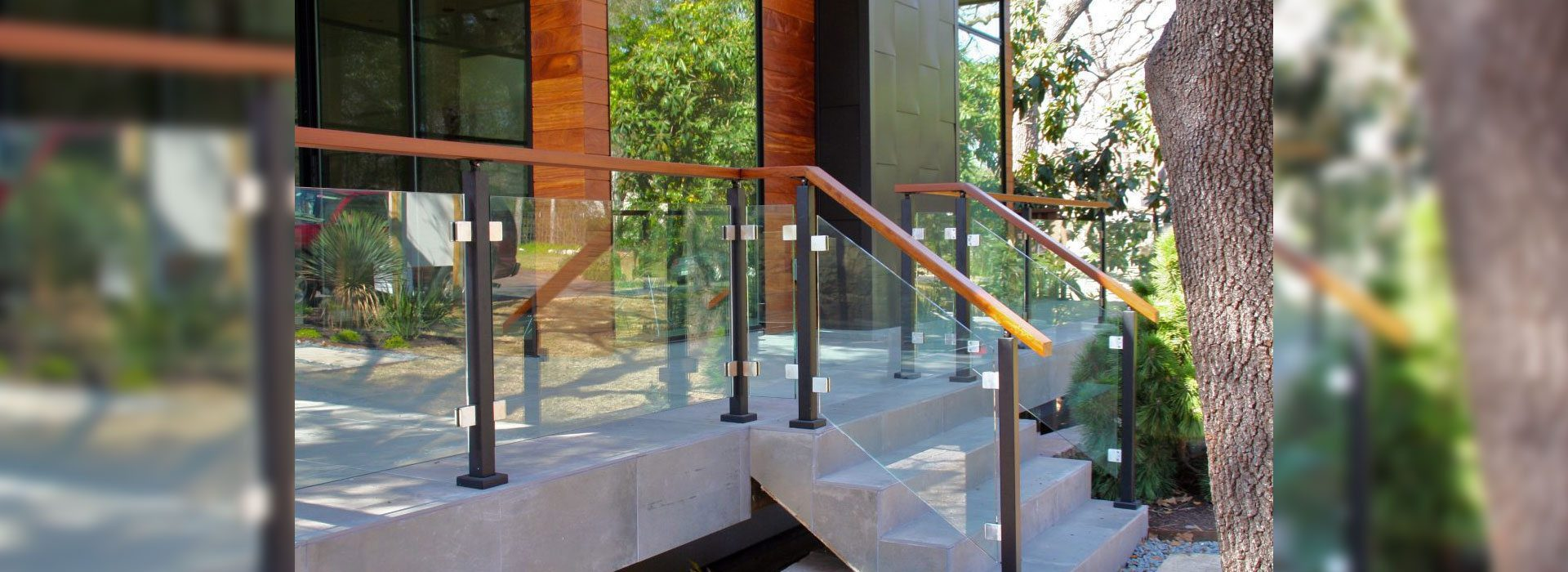 Glass Handrail Systems | Exterior Handrail System | Residential Products & Services | Anchor-Ventana Glass Company