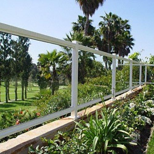 ARS Glass Handrail with at Garden Area | Glass Handrail Systems | Residential Gallery | Anchor-Ventana Glass