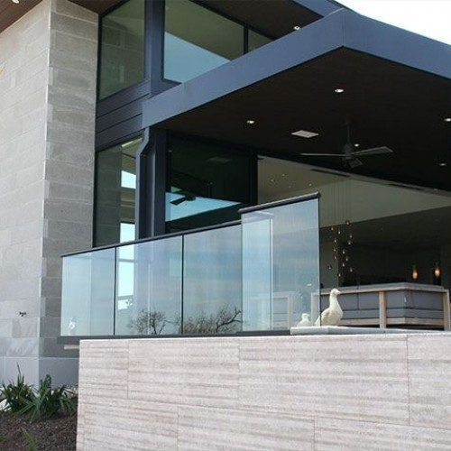 Exterior Clear Glass Handrail / Guardrail Systems | Glass Handrail Systems | Residential Gallery | Anchor-Ventana Glass