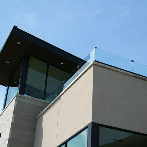Exterior Clear Glass Handrail / Guardrail System | Glass Handrail Systems | Residential Gallery | Anchor-Ventana Glass