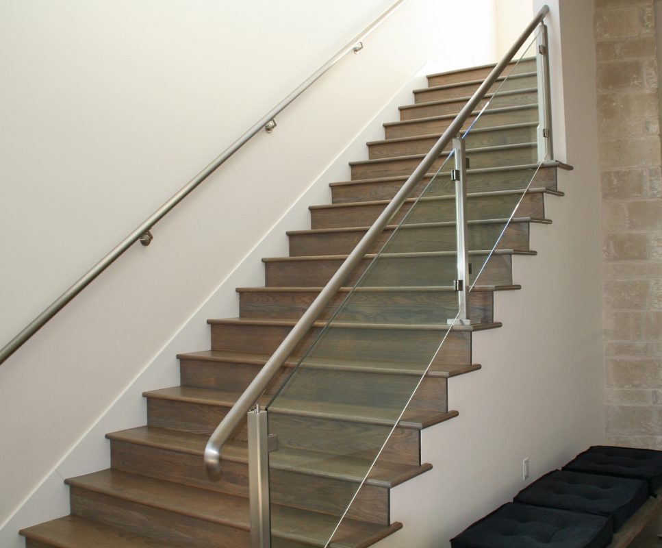 Interior Glass Handrail System On Staircase | Glass Handrail Systems |  Residential Gallery | Anchor