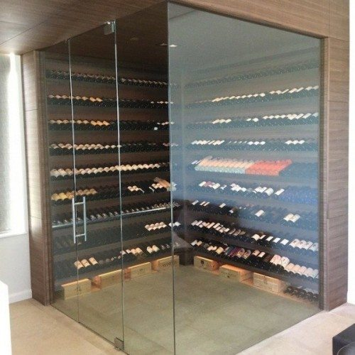 Interior Glass Wall System Design for Wine Room | Glass Wall Systems Gallery | Residential Products | Anchor-Ventana Glass