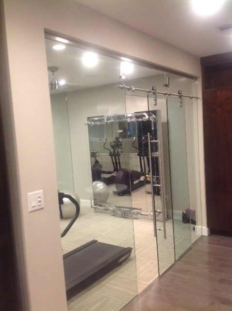 home gym decorating ideas with glass wall | Glass Wall Systems | Residential Gallery | Anchor-Ventana ...