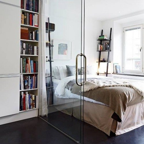 Dorma Room Divider with Sliding Door in Bedroom | Glass Wall Systems Gallery | Residential Products | Anchor-Ventana Glass
