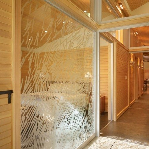 Custom Etched Glass Wall System | Glass Wall Systems Gallery | Residential Products | Anchor-Ventana Glass