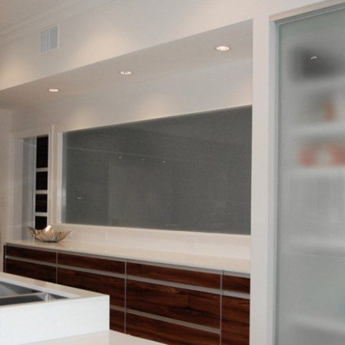Saten Glass Fixed Window & Door Fronts in Kitchen | Glass Wall Systems Gallery | Residential Products | Anchor-Ventana Glass