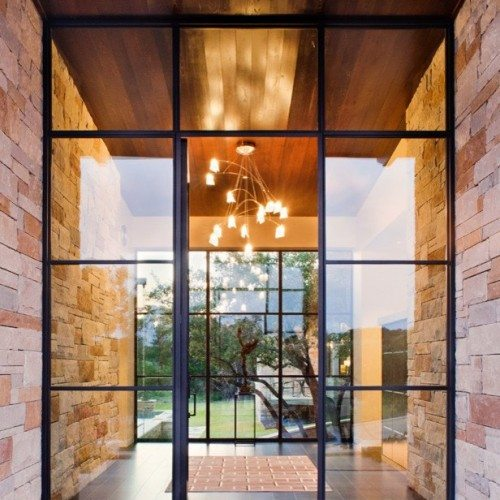 Clear Glass Installed in Steel Doors | Glass Wall Systems Gallery | Residential Products | Anchor-Ventana Glass