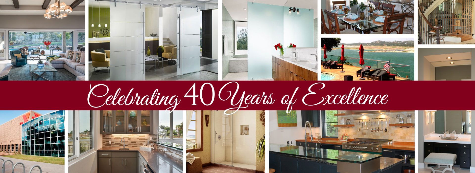 Celebrating 40 Years of Excellence | Anchor-Ventana Logo | We've Got Great Glass | Anchor-Ventana Glass | Austin, Texas