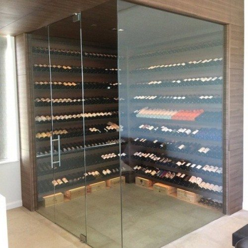Glass Wine Room | Glass Wall Systems Gallery | Interior Glass Products | Anchor-Ventana Glass