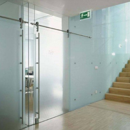 Frosted Sliding Interior Door | Glass Wall Systems Gallery | Interior Glass Products | Anchor-Ventana Glass