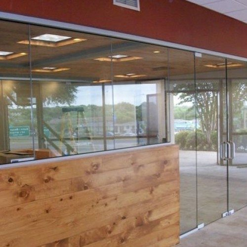 Butt Glazed Heavy Glass Wall and Doors | Glass Wall Systems Gallery | Interior Glass Products | Anchor-Ventana Glass