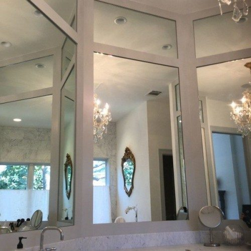 Three Way, Two Panel Frameless Vanity Mirrors in Bathroom | Mirrors Gallery | Anchor-Ventana Glass