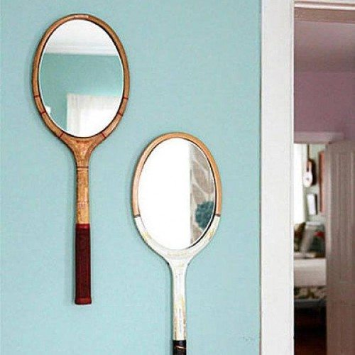 Custom Framed Mirrors Set in Tennis Rackets in Bedroom | Mirrors Gallery | Anchor-Ventana Glass