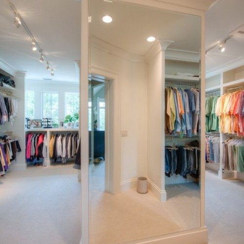 Frameless Beveled Mirror in Bedroom Closet | Mirrors Gallery | Anchor-Ventana Glass