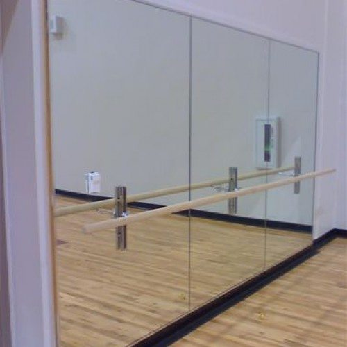 Frameless Mirror Wall In Ballet Studio | Mirrors Gallery | Anchor Ventana  Glass