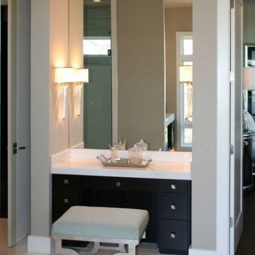 Frameless Vanity Mirror in Bedroom | Mirrors Gallery | Anchor-Ventana Glass