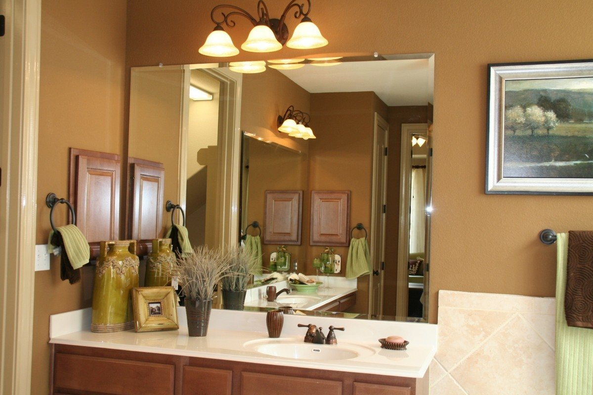 Frameless Beveled Vanity Mirror In Bathroom Mirrors Gallery Anchor Ventana Gl