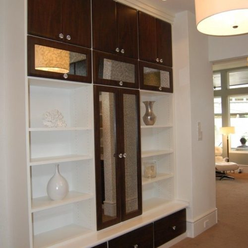Antique Mirror Cabinet Fronts in Living Room | Mirrors Gallery | Anchor-Ventana Glass