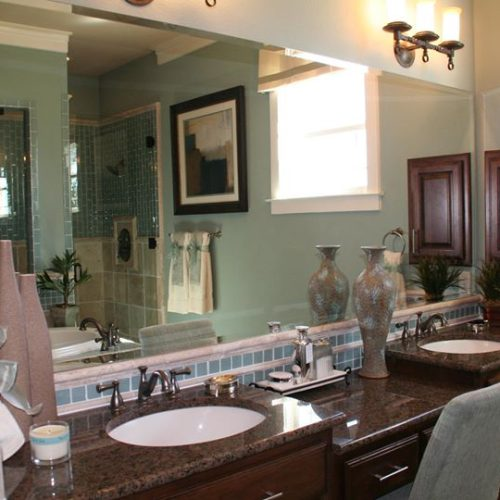 Beveled Vanity Mirror in Bathroom | Mirrors Gallery | Anchor-Ventana Glass