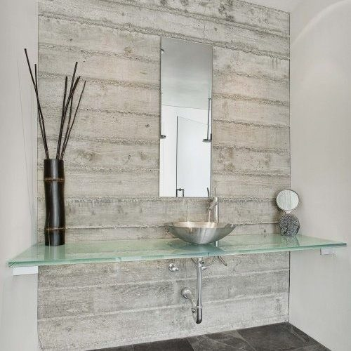 Glass Countertop & Frameless Mirror in Bathroom | Mirrors Gallery | Anchor-Ventana Glass