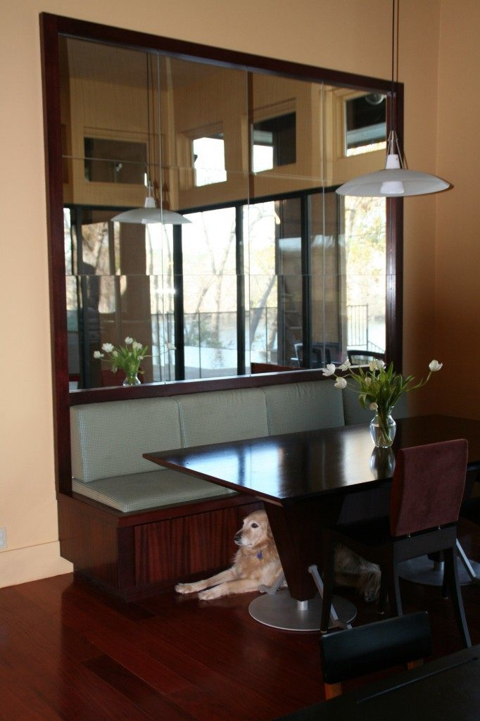 Modern Framed Mirror Behind Booth In Restaurant Mirrors Gallery Anchor Ventana Glass