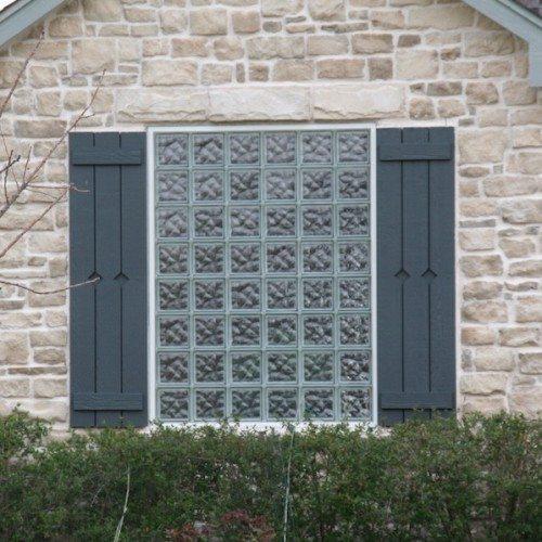 Exterior View of Crossrib Glass Block Window | Other Residential Glass | Residential Glass Gallery | Anchor-Ventana Glass