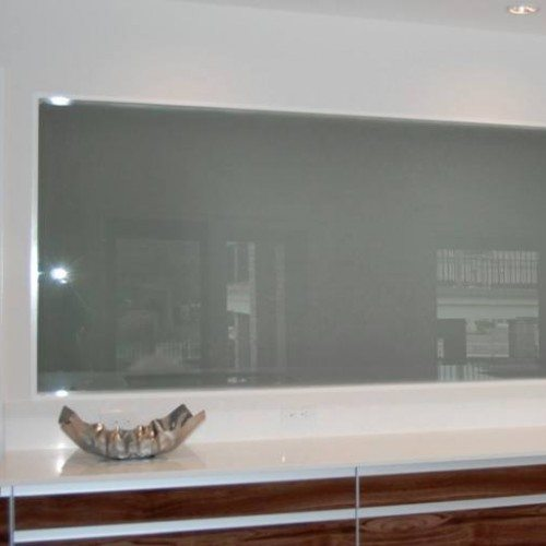 Saten Glass Set in Wall for Privacy at Dining Room | Other Residential Glass | Residential Glass Gallery | Anchor-Ventana Glass