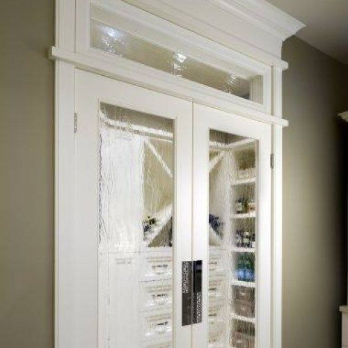 Glass Set in Doors and Transom in Bedroom Closet | Other Residential Glass | Residential Glass Gallery | Anchor-Ventana Glass