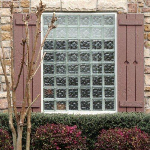 Exterior View of Nubio Glass Block Window | Other Residential Glass | Residential Glass Gallery | Anchor-Ventana Glass